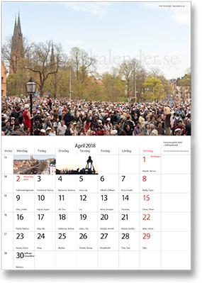 2018 års upplaga av Uppsalakalendern